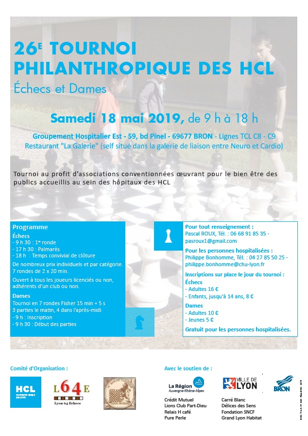 26ᵉ Tournoi Philanthropique des Hôpitaux @ Groupement Hospitalier Est – Restaurant La Galerie