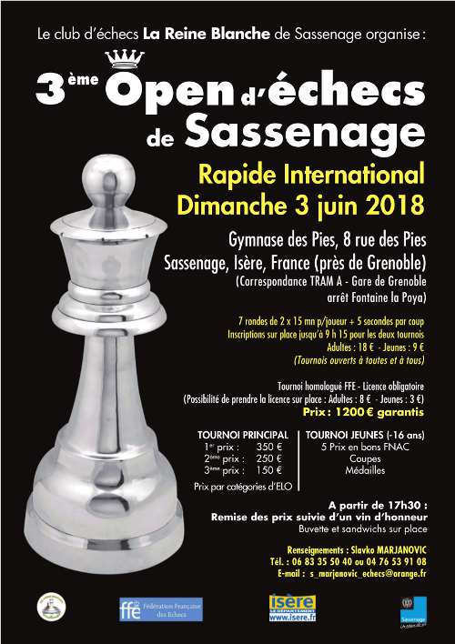 3ᵉ open international de Sassenage @ Gymnase des Pies