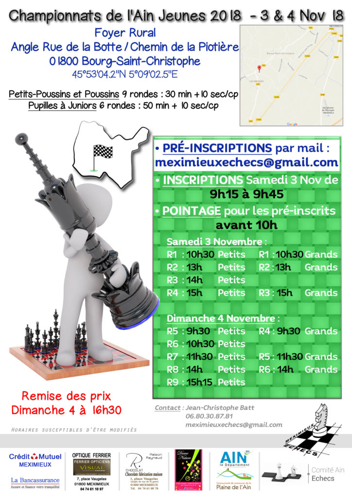 Championnat de l'Ain Jeunes @ Foyer Rural
