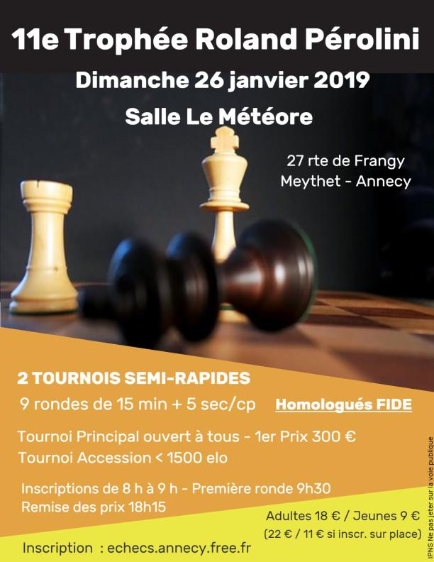 11ᵉ Trophée Roland Pérolini @ Salle Le Météore