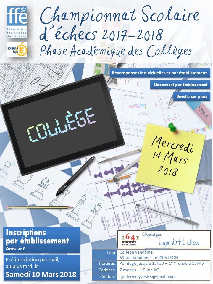 Championnat Académique des Collèges @ Collège Vendôme