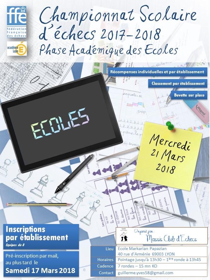 Championnat Académique des Écoles @ École Markarian-Papazian