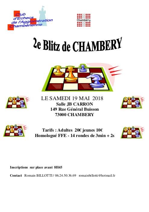 2ᵉ blitz de Chambéry @ Salle Jean-Baptiste Carron