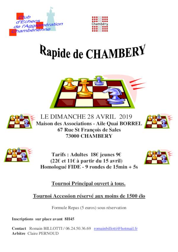 Rapide de Chambéry @ Maison des Associations