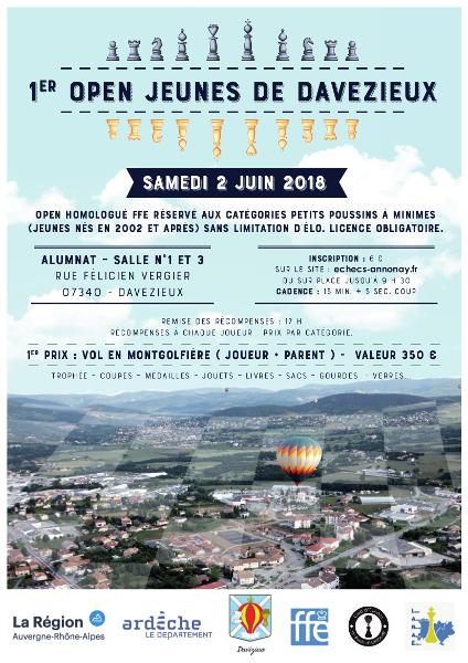 1er Open Jeunes de Davézieux @ Salles 1 et 3 – Alumnat