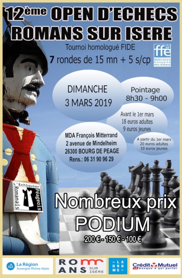 12ᵉ Open de Romans @ Maison des Associations François Mitterand