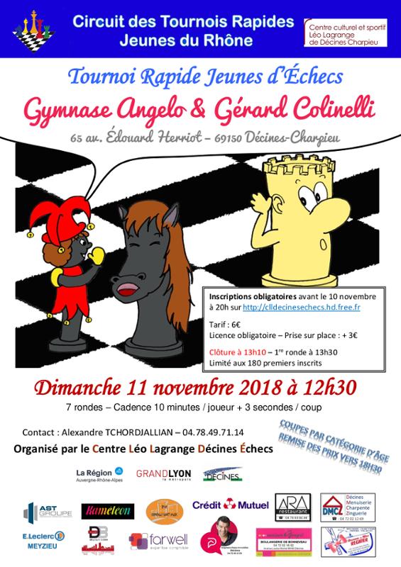 10ᵉ Tournoi Rapide Jeunes de Décines @ Gymnase Angelo & Gérard Colinelli