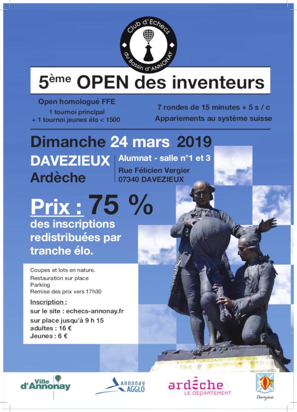 5ᵉ Open des Inventeurs @ Salles 1 et 3 – Alumnat