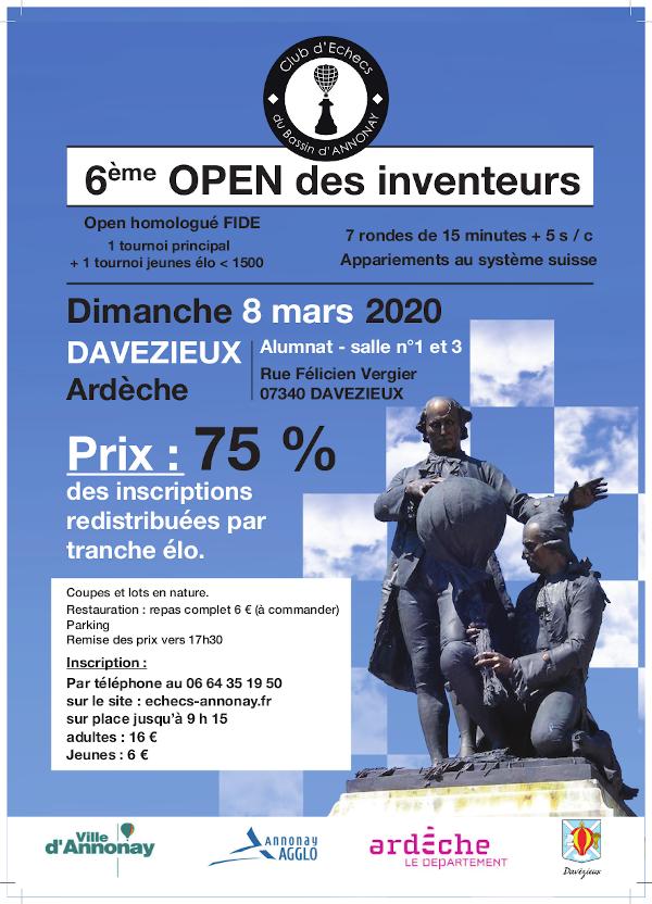 6ᵉ Open des Inventeurs @ Salles 1 et 3 – Alumnat