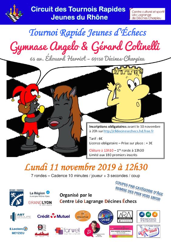 11ᵉ Tournoi Rapide Jeunes de Décines @ Gymnase Angelo & Gérard Colinelli