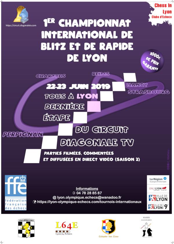 1er championnat International de Blitz de Lyon @ Lyon Olympique Échecs
