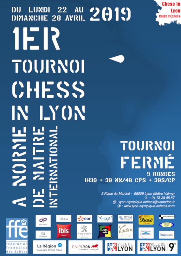 1er Tournoi fermé Chess In Lyon à norme de Maitre International @ Lyon Olympique Échecs