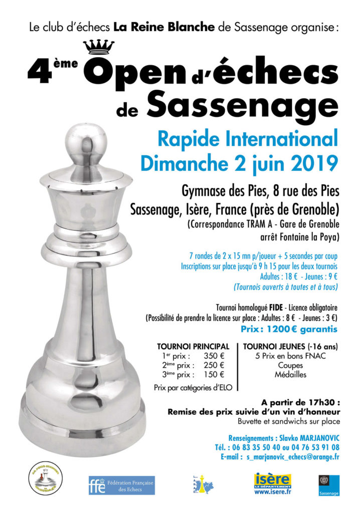4ᵉ open international de Sassenage @ Gymnase des Pies