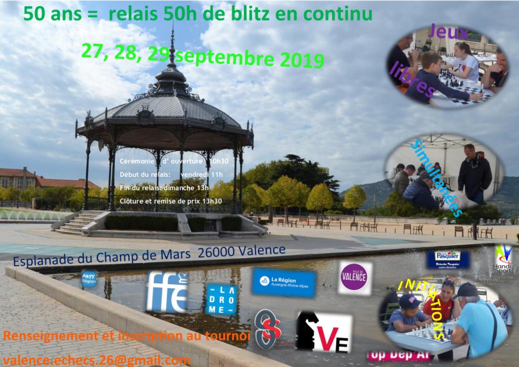 50 ans de Valence Échecs @ Esplanade du Champ de Mars