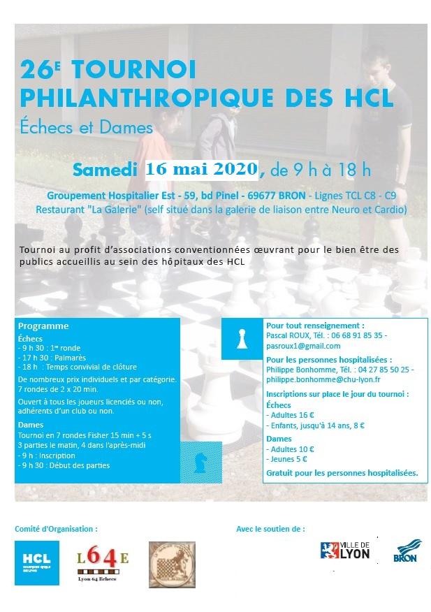 27ᵉ Tournoi Philanthropique des Hôpitaux @ Groupement Hospitalier Est – Restaurant La Galerie