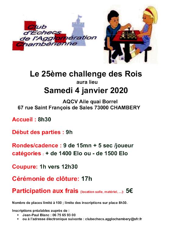 Challenge des Rois @ AQCV – Aile Quai Borrel